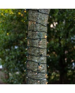 CLU72526 2 ft x 6 ft TREE TRUNK WRAP Light Set with 100 Warm White LED lights & GREEN WIRE
