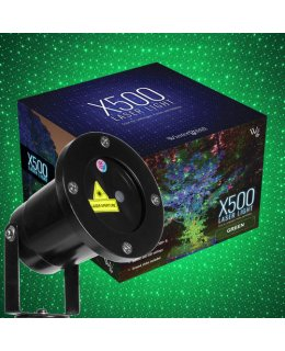 CLU73375 Green X500 Laser Light Displays up to 300 Ft