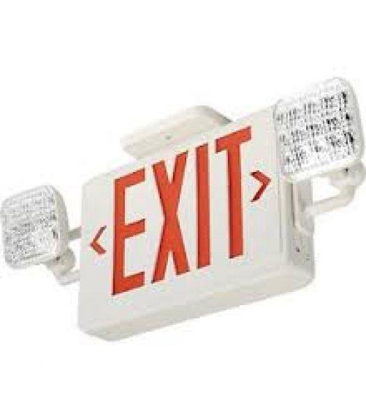 Lithonia Lighting ECR LED M6 Emergency Exit Sign-Light Combo