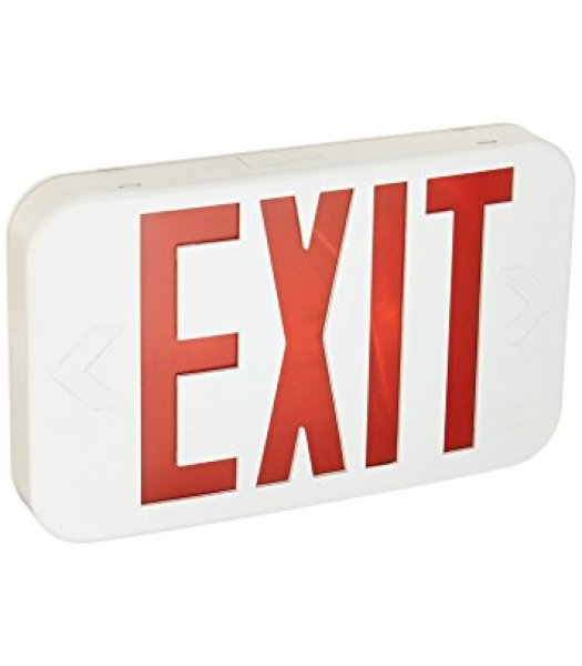 Lithonia Lighting EXR LED EL M6 Emergency Exit Sign with Battery Back Up