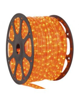 CLU17366 CHASING Incandescent ORANGE Rope Light, 150 ft, 3 Wire, 120 Volt