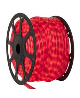 CLU17372 CHASING Incandescent RED Rope Light, 150 ft, 3 Wire, 120 Volt