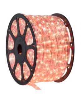CLU14975 CHASING Incandescent RED/CLEAR Rope Light, 150 ft, 3 Wire, 120 Volt