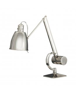 Robert Abbey Model # RA-172 Dave ARobert Abbey Model # RA-170 Dave Adjustable Desk Lamp Antique Polished Nickel Finish