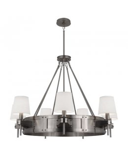 Robert Abbey Lighting Model RA-S139  Doughnut Flush Mounted Ceiling Light Fixture Antique Silver-Marbelized Glass Finish