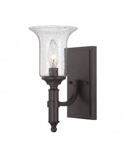 Savoy House Model 9-7134-1-13 Trudy Series Wall Sconce Light Fixture Olde English-Clear Seeded Finish