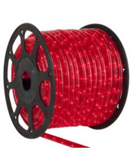 CLU17346 STEADY Incandescent RED Rope Light, 150 ft, 2 Wire, 120 Volt