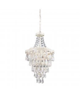 Sterling Lighting Model 144-015 Theatre Mini-Chandelier Chrome-Crystal Finish