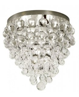 Stone Lighting Model CL506CRPNCN4 Borealis Flush Mount Ceiling Light Fixture Polished Nickel-Clear Finish