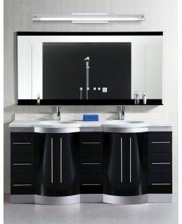 Stone Lighting Model BB41536PCT5LED 38 Inch Sleek Bath Vanity Light Fixture Polished Chrome-White Finish
