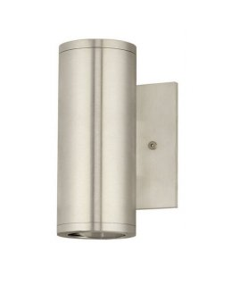 Stone Lighting Model WO808ALGM5 Outdoor Cylinder Wall Sconce Light Fixture Aluminum Finish