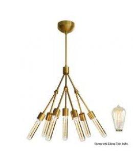 Stone Lighting Model CH550BBRT3A Stilt 30W Chandelier Brusehed Brass Finish