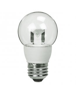 TCP5E26G1627K E26 Base 40W EQ Clear Globe Chandelier Bulb