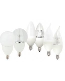 TCP4E26G1627K E26 Base 25W EQ Clear Globe Chandelier Bulb