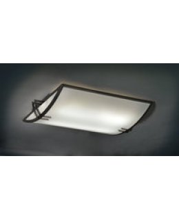 Ultralights Lighting Model 07150-BK-OA-04 Apex Flush Mount Ceiling Light Fixture Black-Opal Finish