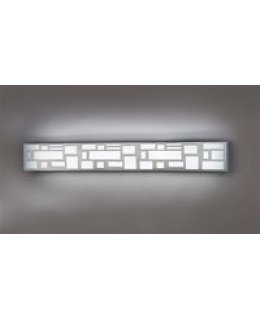 Ultralights Lighting Model 11219-CR-OA-04  Genesis LED Vanity Light Fixture Chrome-Opal Finish