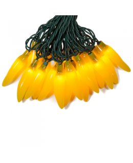 CLP13141 YELLOW Chili Pepper Light Set - 35 Lights 14.5 ft