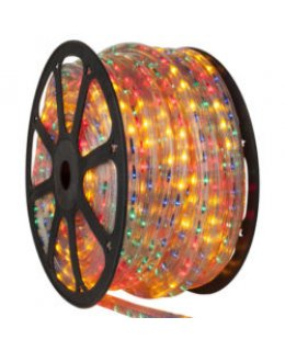 CLU14991 CHASING Incandescent GREEN Rope Light, 150 ft, 3 Wire, 120 Volt